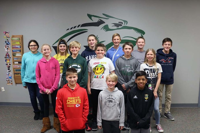 Ray Pec South Middle Students of the Month