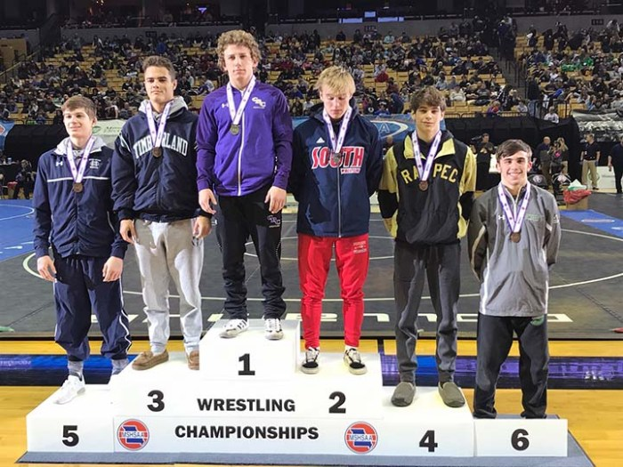 138-pound medal winners (Huff 4th)