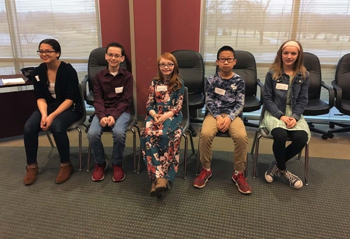 Cass County Spelling Bee whole group of spellers